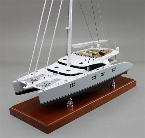 catamaran model a recently completed sunreef 102 1 50 scale 24 48