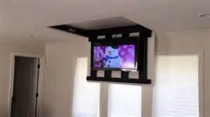 motorized fully automated flip ceiling tv lift 46 quot 60
