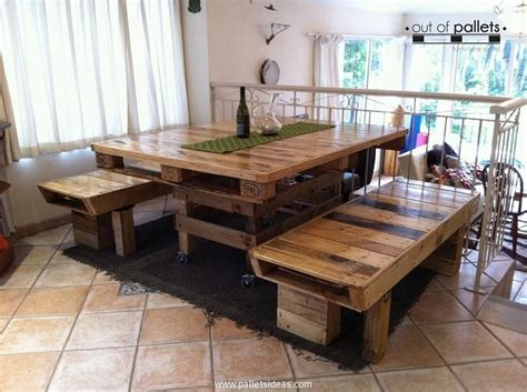 Dining Table Pallet And Stylish Pallet Dining Table Ideas