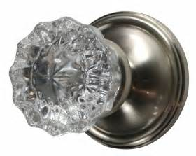 Glass Doorknob by Regency Fluted Glass Door Knob Victorian Plate Brushed