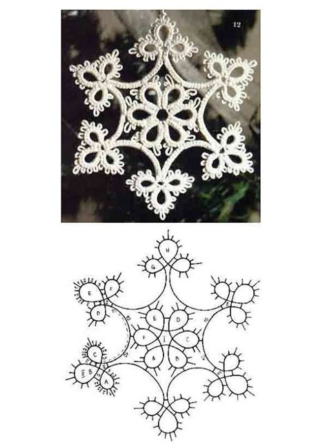 snowflake motif pattern 50 best tatting animals images on pinterest build your
