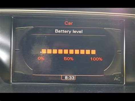 audi a4 battery audi a4 my2011 battery level display activation