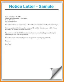How To Write A Notice Resignation Letter by 9 How To Write Notice Reporter Resume