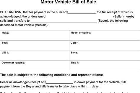vermont dmv boat bill of sale 248 bill of sale form free download