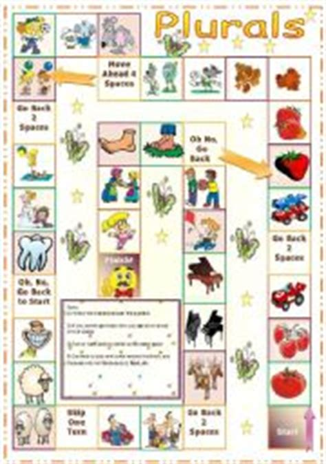 printable games for plurals english teaching worksheets plural of nouns