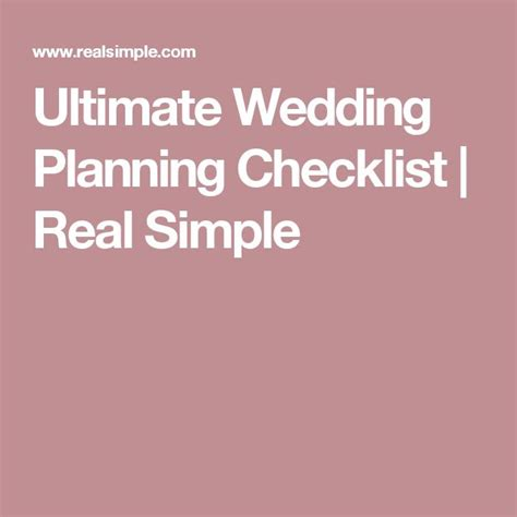 Wedding Checklist Real Simple by Ultimate Wedding Planning Checklist Real Simple 1000