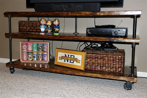 Plumbing Pipe Tv Stand by Diy Industrial Tv Cart Tempting Thyme