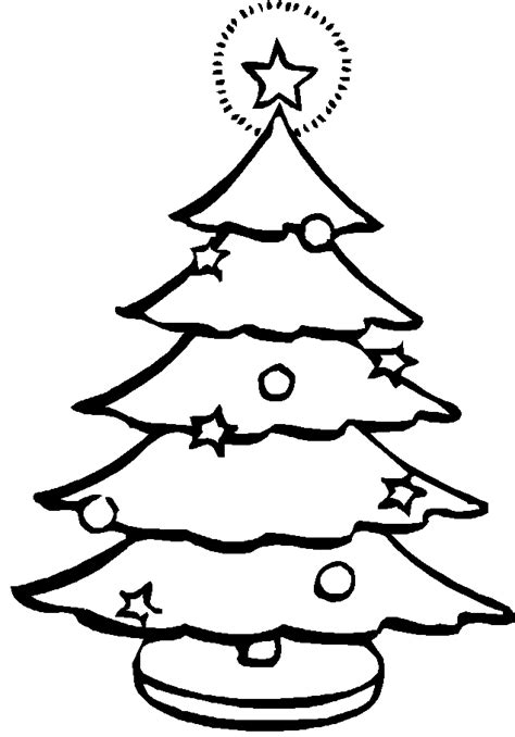 christmas tree pictures for kids coloring home
