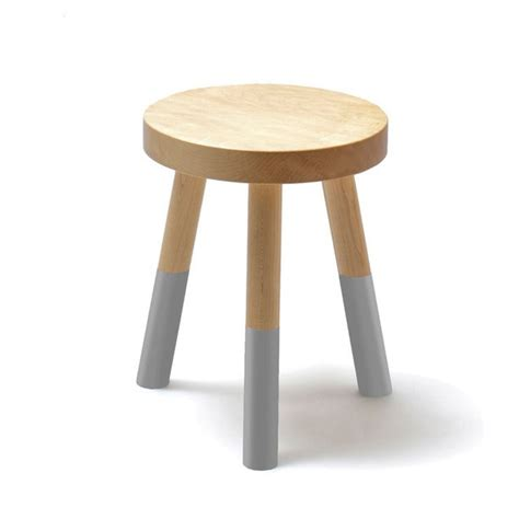 Grey Colored Stools by Holy Stool Small Gray