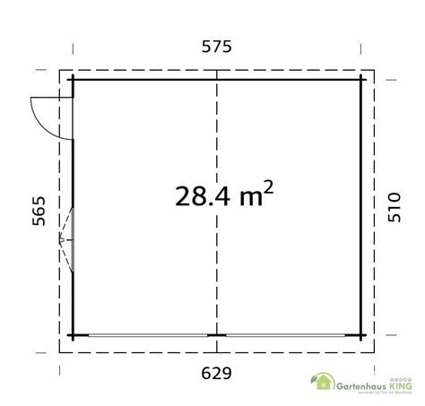 Bauplan Gartenhaus 5953 by 44 Mm Holzgarage Roger 28 4 M 178 Mit Sektionaltor 595 X 530