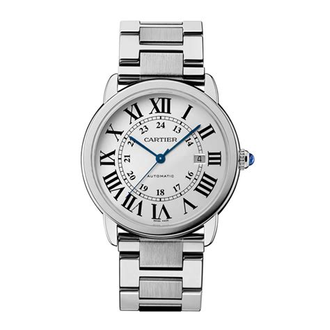 watching the watchmen cartier ronde solo silver dial steel 42mm w6701011