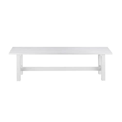white bench seat white bench modern outdoor benches allmodern with white