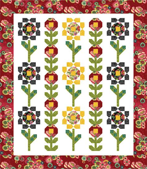Free Flower Quilt Patterns by Lms Blossoms A Free Quilt Pattern