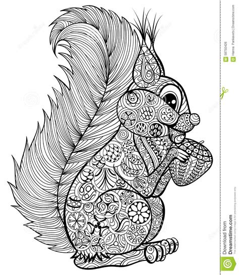 stress less coloring book 30 intricate detail page mandalas for coloring in for relaxation and stress relief books squirrel with nut for anti stress