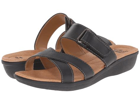 clarks sandals on sale black leather clarks manilla a sandals on sale