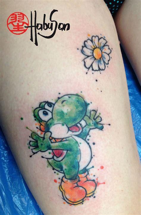 watercolor tattoo wien nintendos yoshi im watercolour look dabke liebe