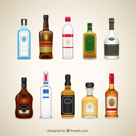 alcoholic drinks bottles vectors photos and psd files free