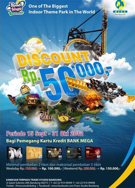 Diskon Perform diskon rp 50 000 di trans studio bandung discounts promotions liburan anak informasi
