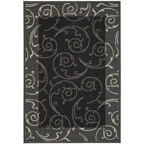8 foot indoor outdoor rugs safavieh courtyard black sand 8 ft x 11 ft indoor outdoor area rug cy2665 3908 8 the home depot