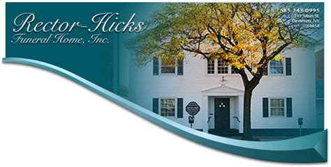 home rector hicks funeral home inc located in geneseo