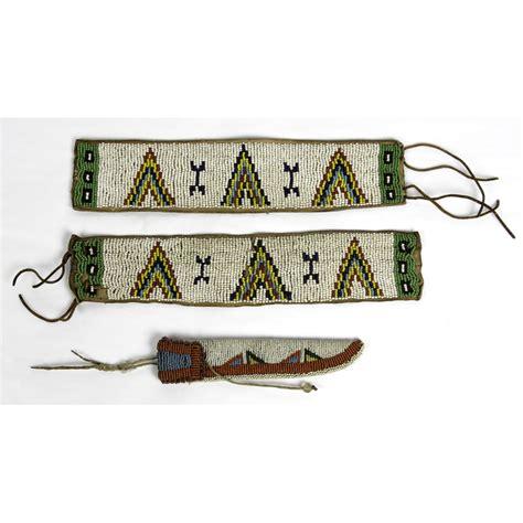arm knife sheath sioux beaded arm bands and knife sheath cowan s auction