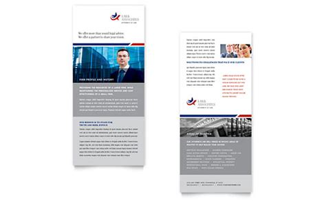 rack card design template firm rack cards templates designs