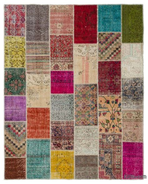 Turkish Patchwork Rug - k0021179 turkish patchwork rug kilim rugs overdyed