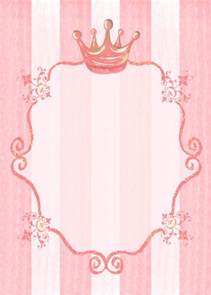 princess letter template princess invitation background stationery