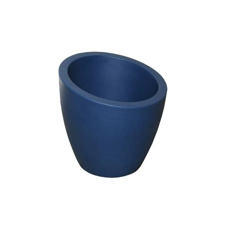 pride garden products mela 8 1 2 in blue plastic wall