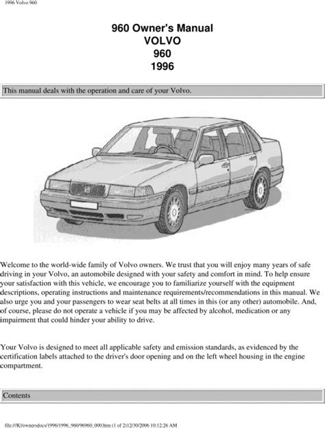 how to download repair manuals 1997 volvo 960 seat position control 96 volvo 960 1996 owners manual download manuals technical