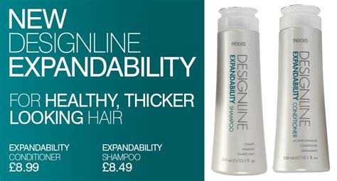 what hair color line do regis salons use the new designline expandability range hair care products