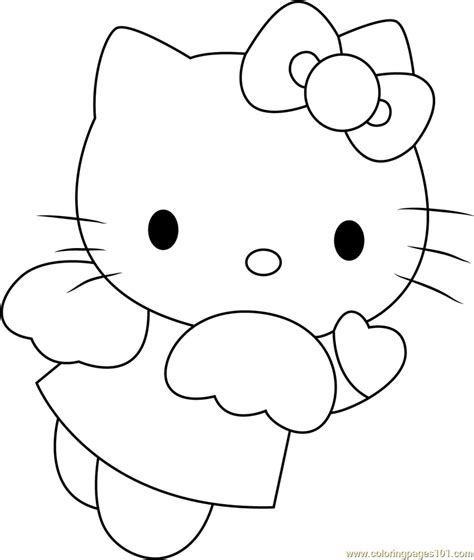 hello kitty angel coloring pages angel blue hearts hello kitty coloring page free hello