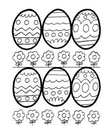 This easter eggs coloring page shows 6 easter eggs easy outlines for