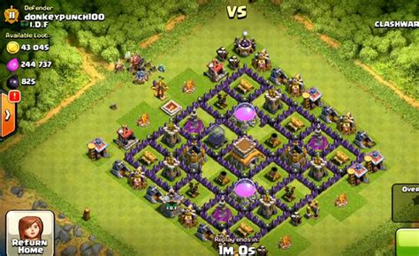 best clash of clans defence 7 hd image town hall 8 village images
