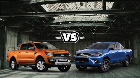 Ford Toyota Toyota Hilux Versus Ford Ranger Comparison Review 2016