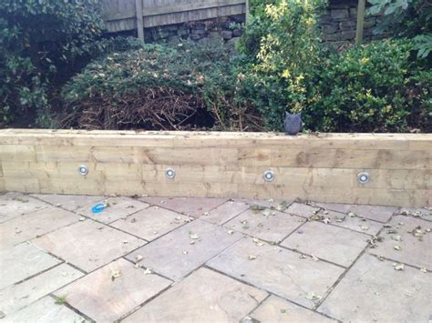 Lights In Railway Sleepers by Jon Adsetts S Wall And Seat With New Railway Sleepers