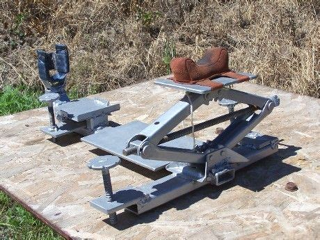build shooting bench rest homemade rifle rest out of screwjack diy shooting