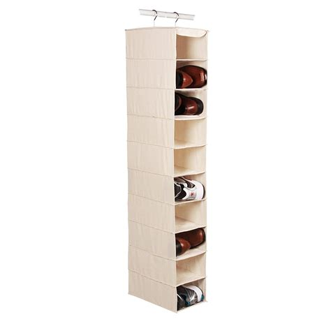 shoe rack hanging review richards homewares hanging ten shoe large shelf organizer canvas natural perfect for the