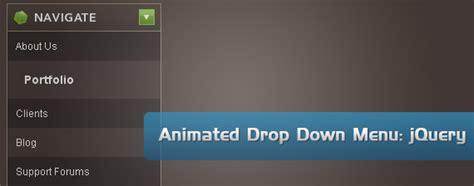 tutorial css menu drop down animated drop down menu with jquery tutorialchip