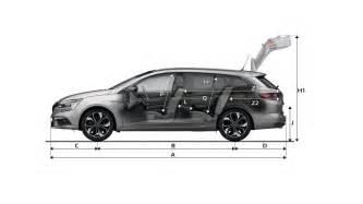 Renault Megane Estate Dimensions Dimensions Megane Estate V 233 Hicules Particuliers