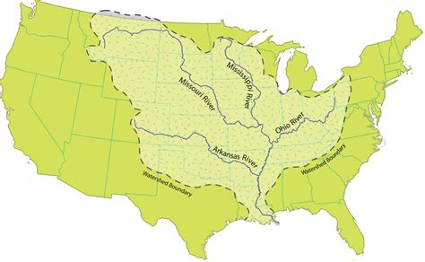 us map showing states and mississippi river mississippi river facts mississippi national river and