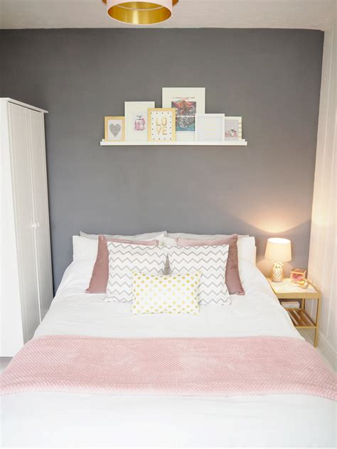 pink and gray bedrooms pink grey bedroom makeover on style