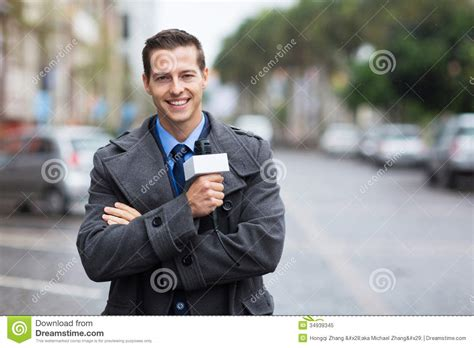 The Reporter news reporter outdoors stock image image of caucasian