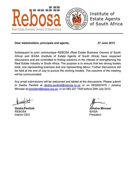 Business Letter Format In South Africa business letter format south africa sle business letter