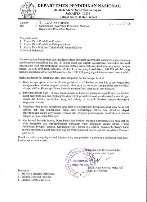 Contoh Notula Rapat Instansi Pemerintahan by Contoh Surat Dinas Resmi Terbaru Ke 10