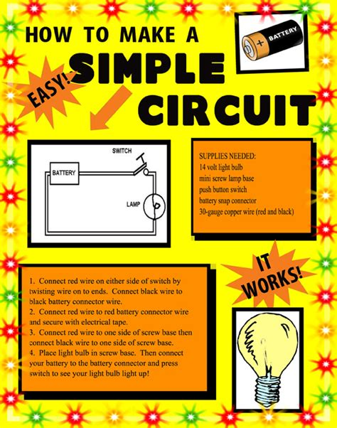 how to make a simple circuit for make a science fair project poster ideas simple