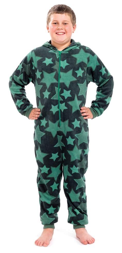 boys fleece pyjamas boys fleece novelty hooded pyjamas all in one