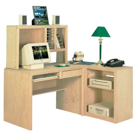 Corner Desk Shelf Unit by Corner Desk With Hutch And Shelving Unit In Pine Desks