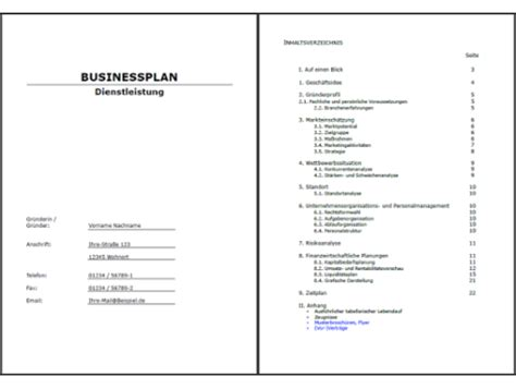 Word Vorlage Businessplan business plan muster businessplan restaurant muster zum