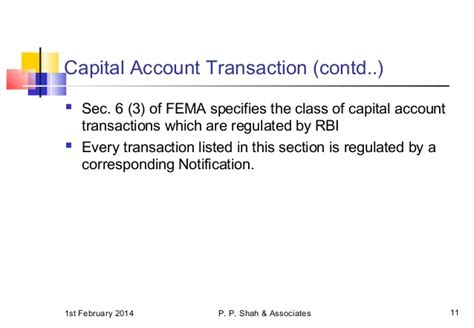 Goa Wirc Overview Of Provisions Of Fema 01 02 2014